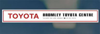 Picture of Bromley Toyota Centre Dealer rear glass Sticker