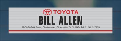 Picture of Bill Allen - Cheltenham Dealer rear glass Sticker