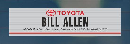 Picture of Bill Allen - Cheltenham Dealer rear glass Sticker