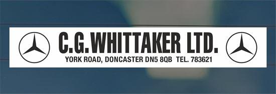 Picture of C.G. Whittaker Ltd - Doncaster Dealer rear glass Sticker
