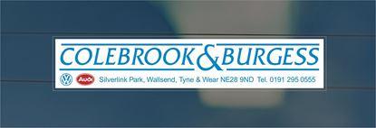 Picture of Colebrook & Burgess - Tyne & Wear Dealer rear glass Sticker