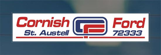 Picture of Cornish Ford St Austell - Cornwall Dealer rear glass Sticker