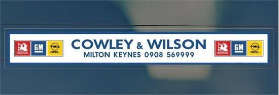 Picture of Cowley & Wilson - Milton Keynes Dealer rear glass Sticker