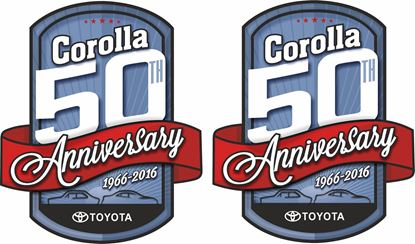 Picture of Toyota Corolla 50th Anniversary Decals / Stickers