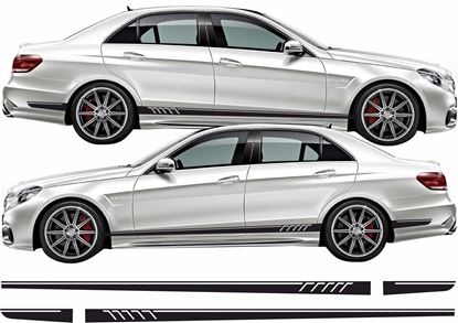Picture of SINGLE SIDE ONLY Mercedes E63 AMG side Stripes / Stickers