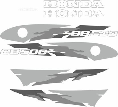 Picture of Honda CB500 1996 - 1997 replacement Decals / Stickers