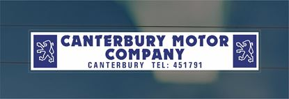 Picture of Canterbury Motor Company Dealer rear glass Sticker