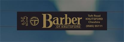 Picture of Barber of Knutsford Cheshire Dealer rear glass Sticker
