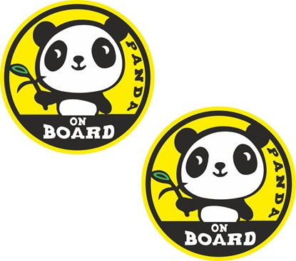 Picture of Baby Panda Onboard Decals / Stickers