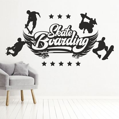 "Picture of ""Skate Boarding""  Wall Art sticker"