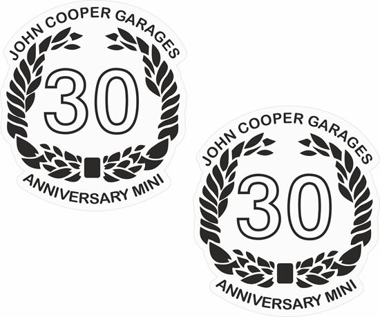 Picture of Mini John Cooper Garages 30th Anniversary Decals / Stickers