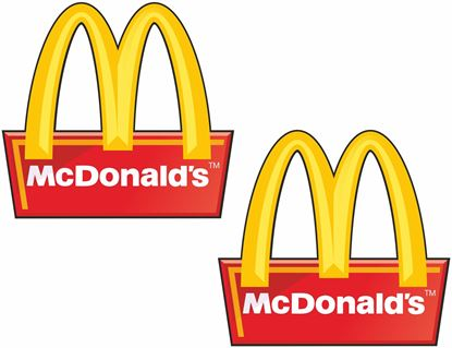 """Picture of """"Mc Donalds""""  Decals / Stickers"""