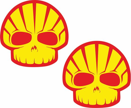 Picture of Shell Skull Decals / Stickers