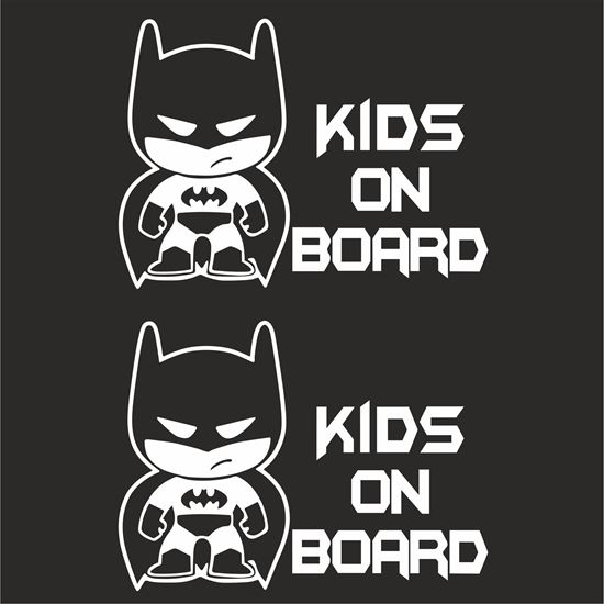 """Picture of """"Kids on Board"""" Decals / Stickers"""