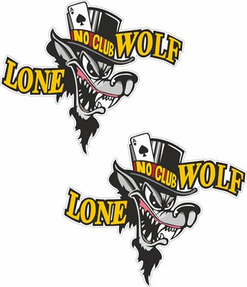 Picture of Lone No Club Wolf general panel  Decals / Stickers