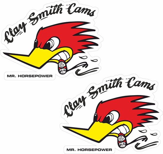 """Picture of """"Clay Smith Cams"""" Decals / Stickers"""