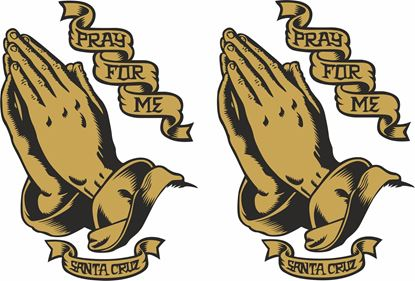 "Picture of Santa Cruz  ""Pray for me"" Decals / Stickers"