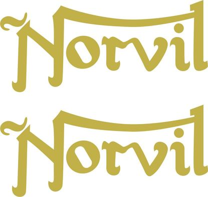 "Picture of Norton / Triumph ""Norvil""  restoration Decals / Stickers"