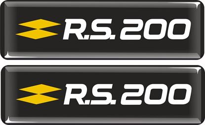 Picture of Renault Clio R.S. 200 Gel Badges 65mm x 15mm