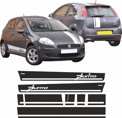 Picture of Fiat Punto Grande side & OTT Stripes / Stickers FACTORY FIT