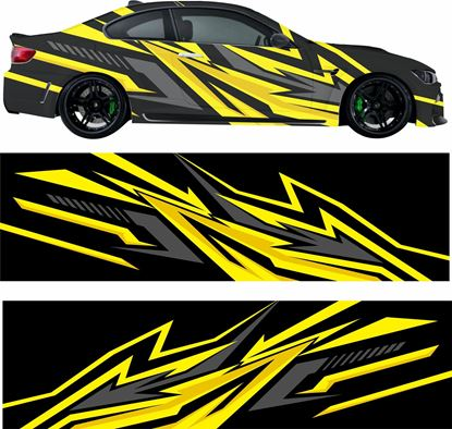 Picture of Abstract Racing  Vinyl Wrap