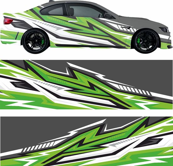 Picture of Abstract Racing Wrap