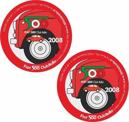 Picture of Fiat  500 Club Italia 2008 Stickers / Decals