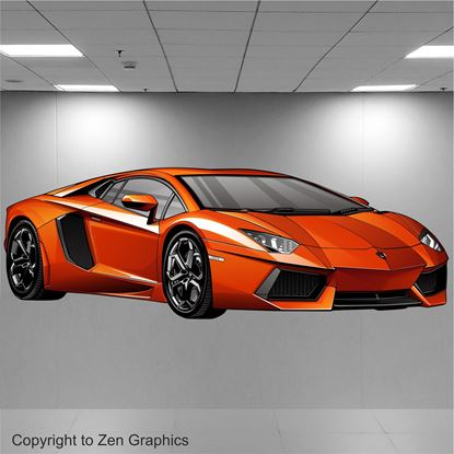 Picture of Lamborghini Aventador Wall Art sticker (Full colour)