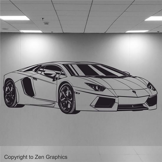 Picture of Lamborghini Aventador Wall Art sticker