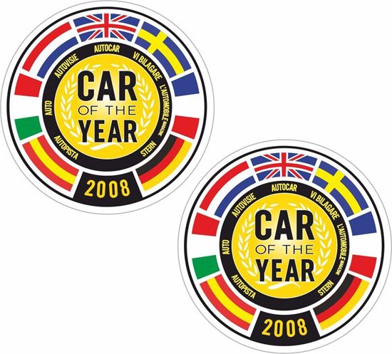 Picture of Fiat 500 Car of the year 2008 Stickers / Decals