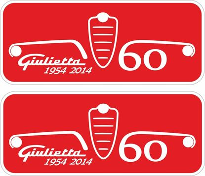 Picture of Alfa Romeo Giulietta 60 Decals / Stickers