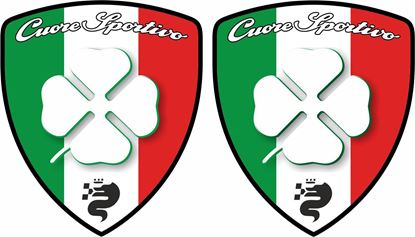 "Picture of Alfa Romeo ""Cuore Sportio"" Wing  Decals / Stickers"