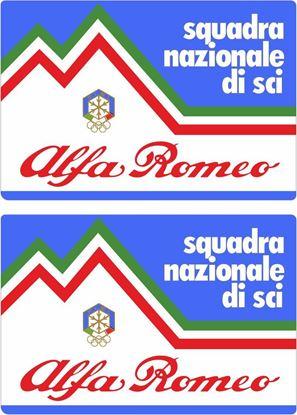 Picture of Alfa Romeo Squadra Nazionale Di Sci Decals / Stickers