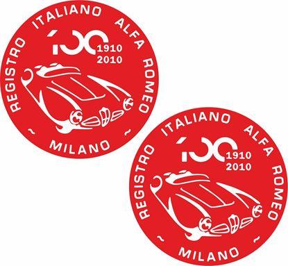 Picture of Alfa Romeo Registro Italiano 100 Decals / Stickers