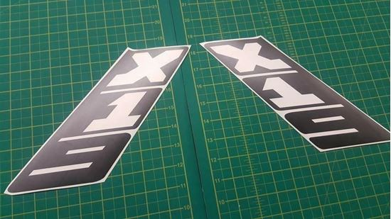 Picture of FIAT Bertone X1/9 1500 Special Series Sail Pillar Decals / Stickers