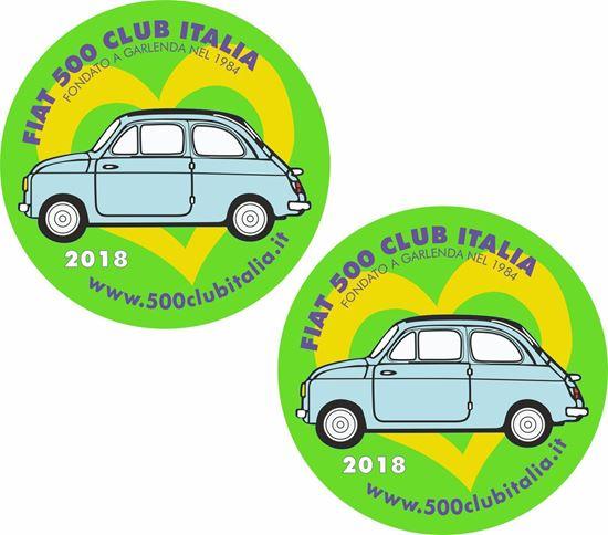 Picture of Fiat 500 Club Italia 2018 Stickers / Decals