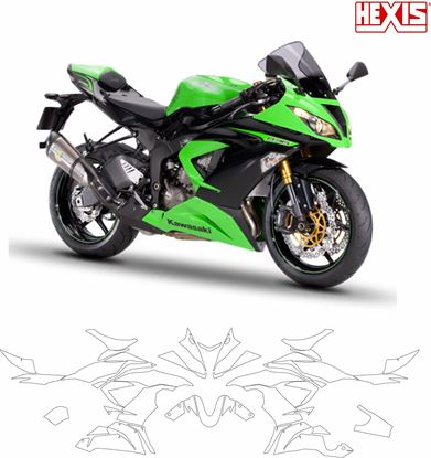 Picture of Kawasaki ZX-6R 636 K16 2013 - 2018 Pre Cut PPF Full Kit