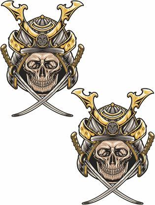 Picture of Samurai Skull Decals / Stickers