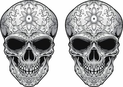 Picture of Skull Decals / Stickers