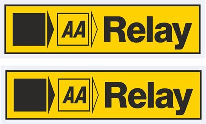"""Picture of """"AA Relay"""" Glass Decals / Stickers"""