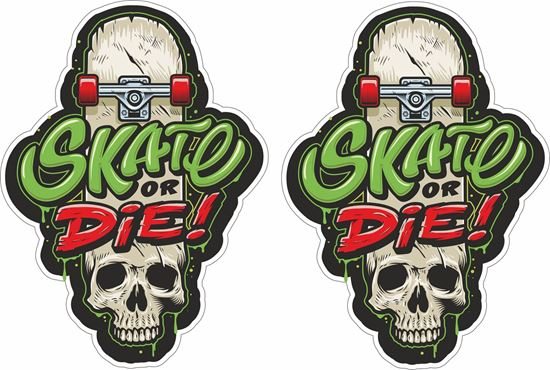 """Picture of """"Skate or Die"""" Decals / Stickers"""