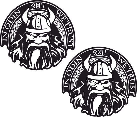 """Picture of """"In Odin We Trust"""" Decals / Stickers"""