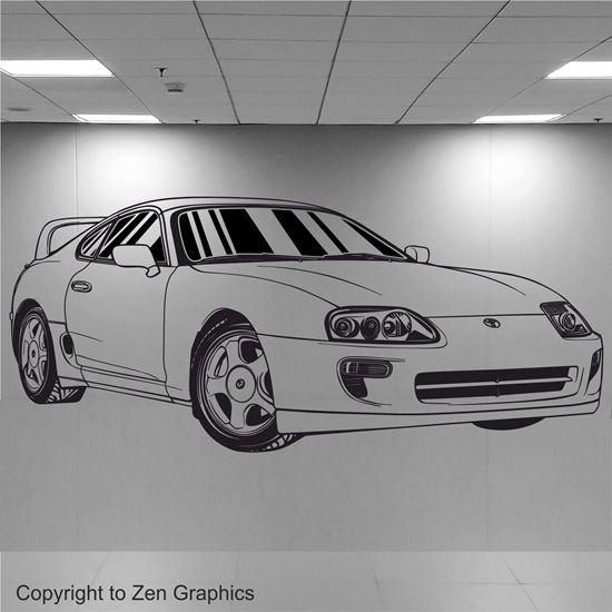 Picture of Toyota Supra Wall Art sticker Wall Art sticker