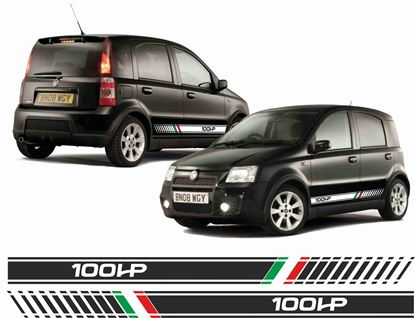 Picture of Fiat Panda 100HP  Italia sidfe Stripes / Stickers