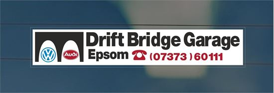 Picture of Drift Bridge Garage - Epsom Dealer rear glass Sticker