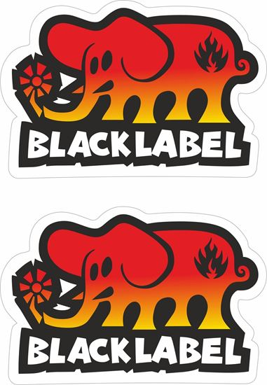 Picture of Black Label Decals / Stickers