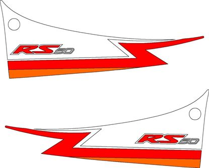 Picture of Aprilia RS 50 / 125 Tail Pieces Replacement Decals / Stickers