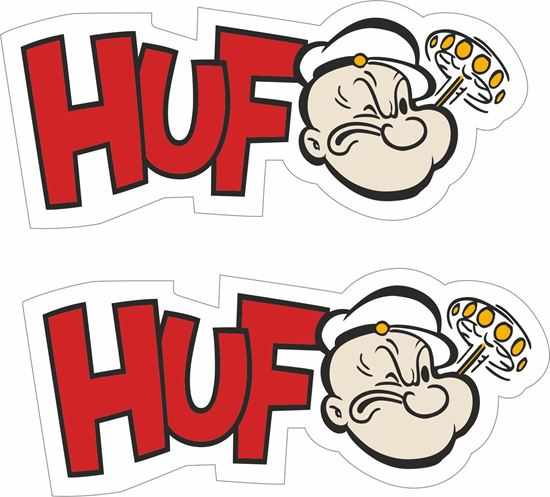 "Picture of ""Huf"" Popeye  Decals / Stickers"