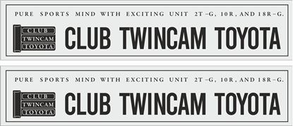 "Picture of ""Club Twincam Toyota""  Decals / Stickers"