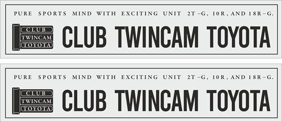 """Picture of """"Club Twincam Toyota""""  Decals / Stickers"""